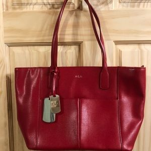 Leather Tote with Dust bag